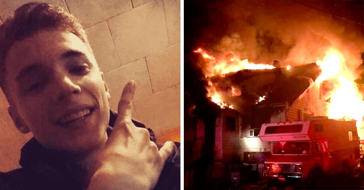 Joven salva a su sobrina de 8 años de morir quemada, lo llaman héroe