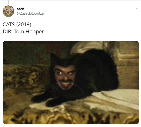 Comentarios en Twitter sobre el nuevo trailer realista de Cats el musical