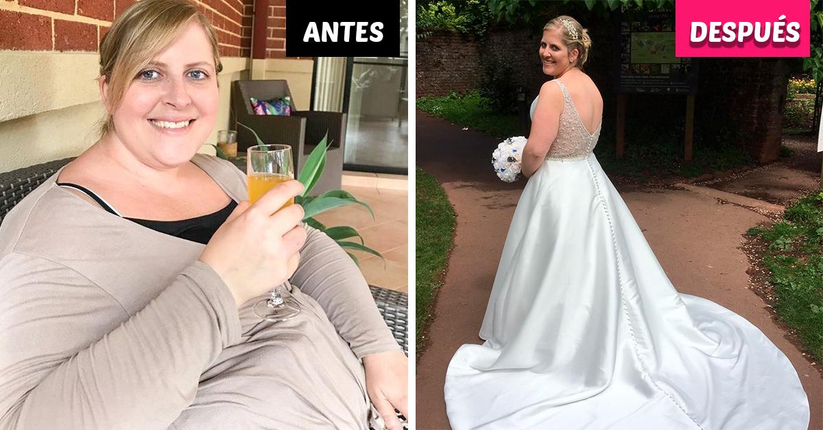 Mujer compra su vestido de boda tres tallas más chico para motivarse a bajar de peso