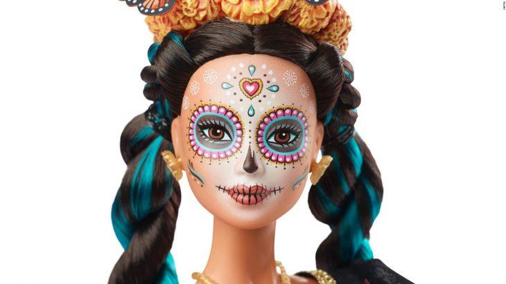 Posible imagen de la Barbie edición especial Día de Muertos, con la cara pintada de Catrina
