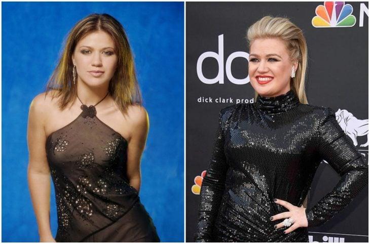 Kelly Clarkson a principios del 2000 y ahora