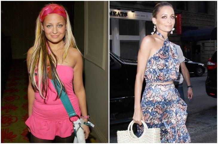 Nicole Richie a principios del 2000 y ahora