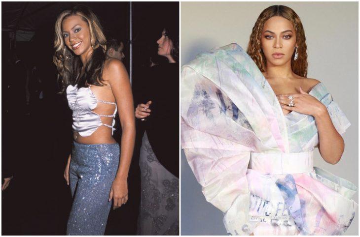 Beyoncé a principios del 2000 y ahora