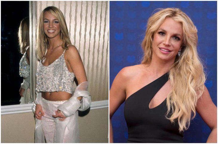 Britney Spears a principios del 2000 y ahora