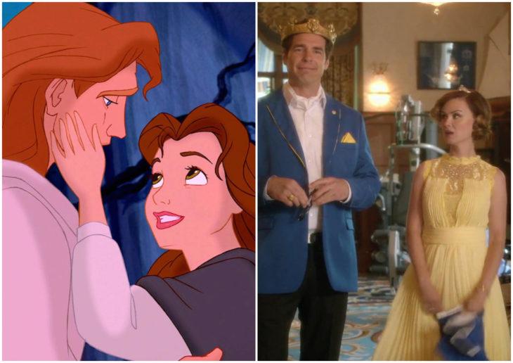 Dan Payne y Keegan Connor como El Príncipe Adam y Bella de Descendientes