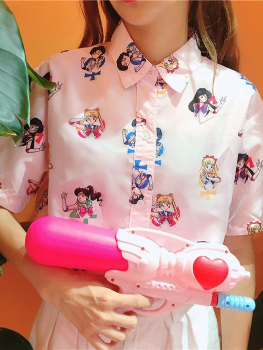 Blusas con estampados bonitos y kawaii; Sailor Moon