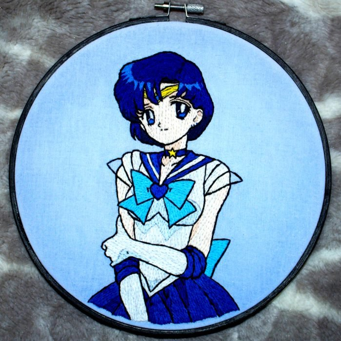 Bordado de Sailor Moon; Mercurio, Ami