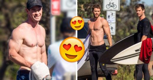 Chris y Liam Hemsworth surfeando es todo lo que necesitas para alegrarte el día