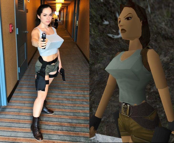 Mira Park hace divertidos cosplays; disfraz de Lara Croft de Tomb Rider de 1996