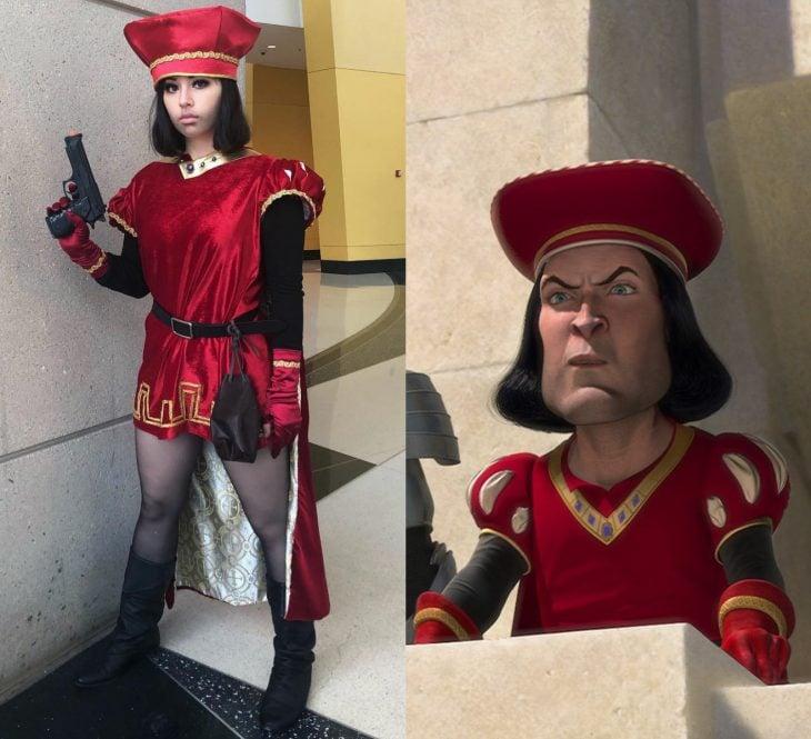 Mira Park hace divertidos cosplays; disfraz de Lord Farquaad de Shrek