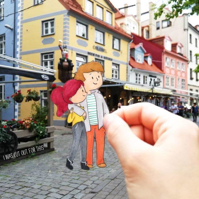 Ilustraciones de Ana Stretcu durante sus vacaciones