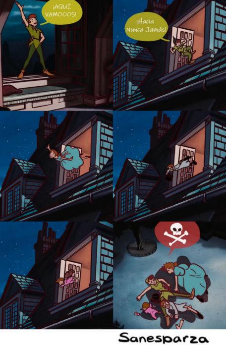 Santiago Esparza ilustra escenas de Disney realistas; Peter Pan