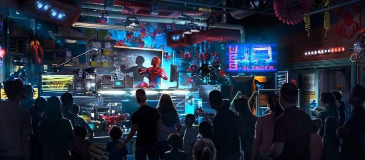 Atracción con Spider-Man en el Avengers Campus