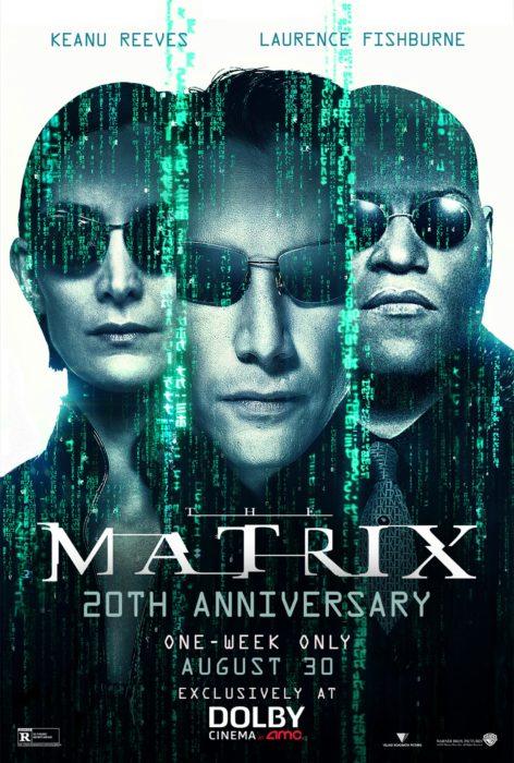 nuevo cartel de 'The Matrix' para conmemorar el 20 aniversario de su estreno
