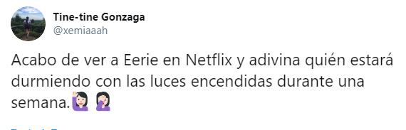 Comentarios en twitter sobre la nueva película de Netflix, Eerie