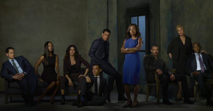 Elenco de How To Get Away With Murder reunido para una fotografía