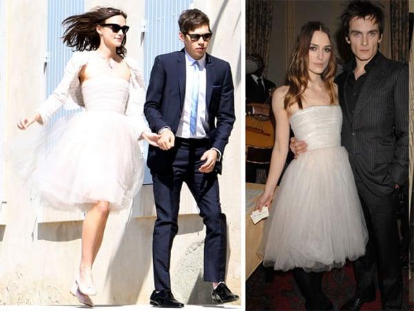 Keira Knightleyusando su vestido de novia dos ocasiones diferentes