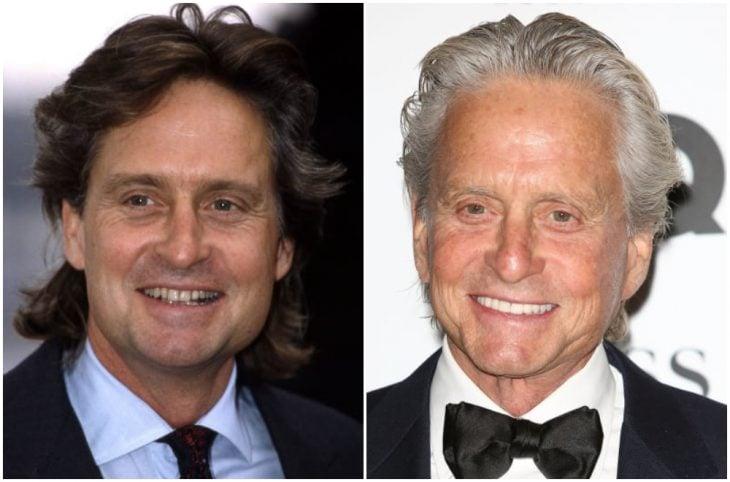 Michael Douglas antes y después de arreglar su dentadura
