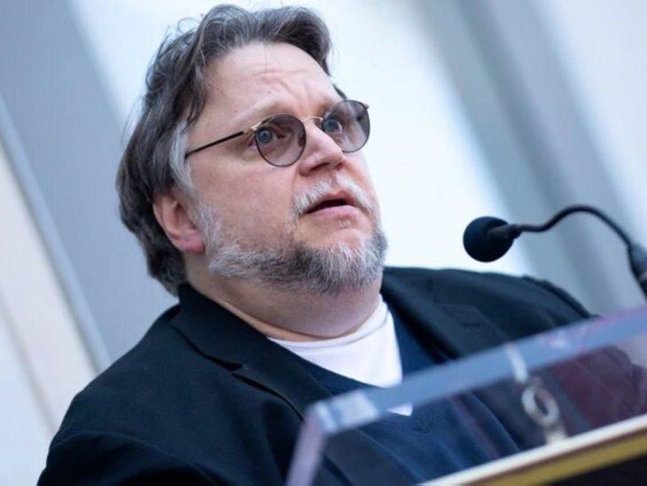 Guillermo del Toro durante su discurso en el Paseo de la Fama