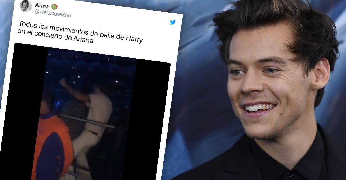 Los pasos de baile de Harry Styles en un concierto de Ariana Grande se robaron la noche