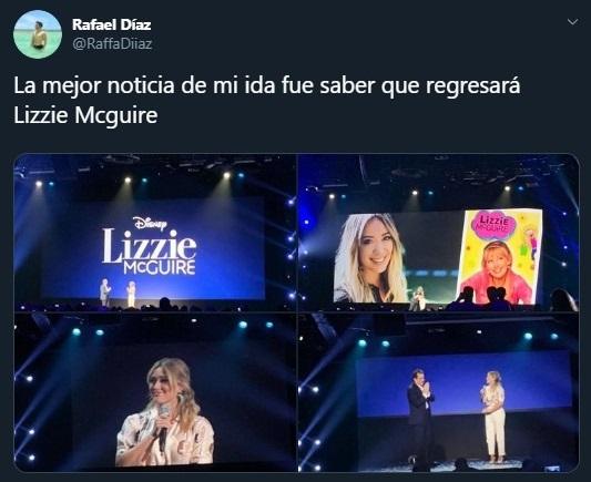 Tuit sobre Hilary Duff como Lizzie Mcguire