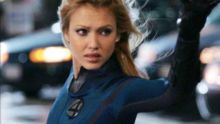 Jessica Alba en una escena de Fantastic Four como Storm