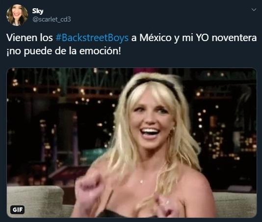 Tuit sobre el regreso de los Backstreet Boys a México