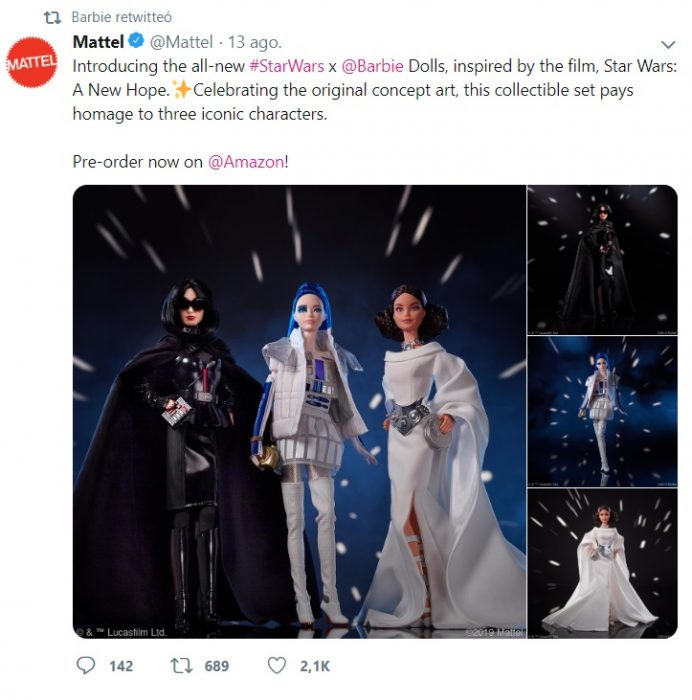 Barbie Star Wars en Twitter