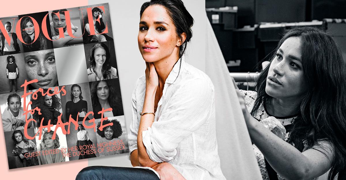 Meghan Markle elije a mujeres promotoras del cambio para su colaboración con Vogue