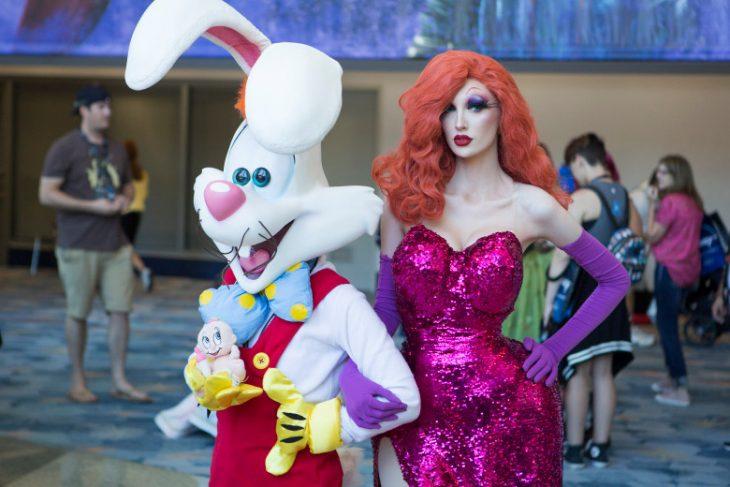 Cosplay de Maddie Rose y Roger Rabbit en la Expo D23, Disney