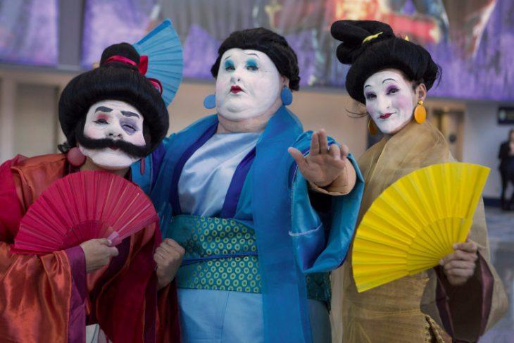 Cosplay inspirado en los soldados de Mulan, Expo D23, Disney