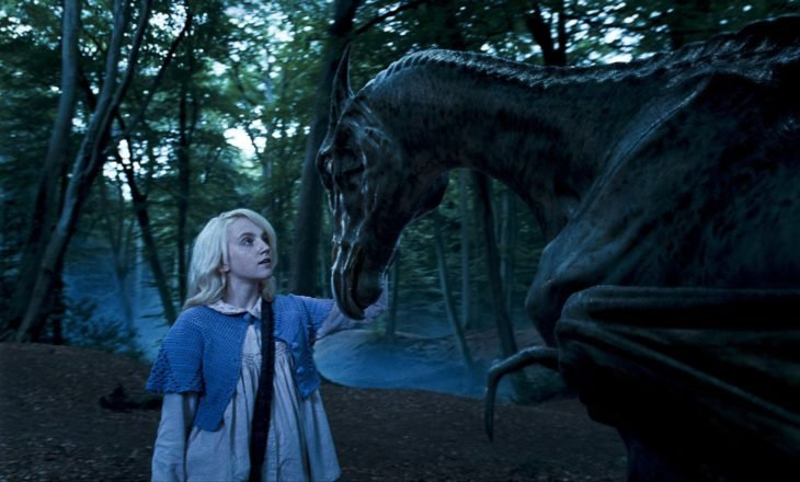 Luna Lovegood frente a un Thestrals, Harry Potter