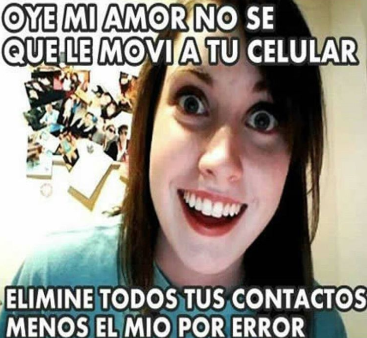 """Meme de la """"novia psicópata"""""""