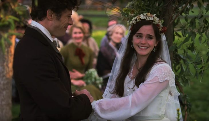 Tráiler de película Mujercitas del 2019; Emma Watson como Meg March con vestido de novia en su boda