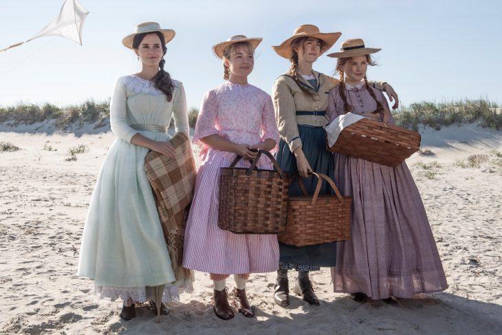 Película Mujercitas con Emma Watson, Saoirse Ronan, Florence Pugh y Eliza Scanlen como Meg, Jo, Amy y Beth March