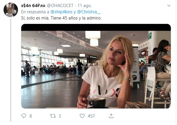 Comentarios en Twitter sobre mujeres que se ven más jóvenes de lo que son