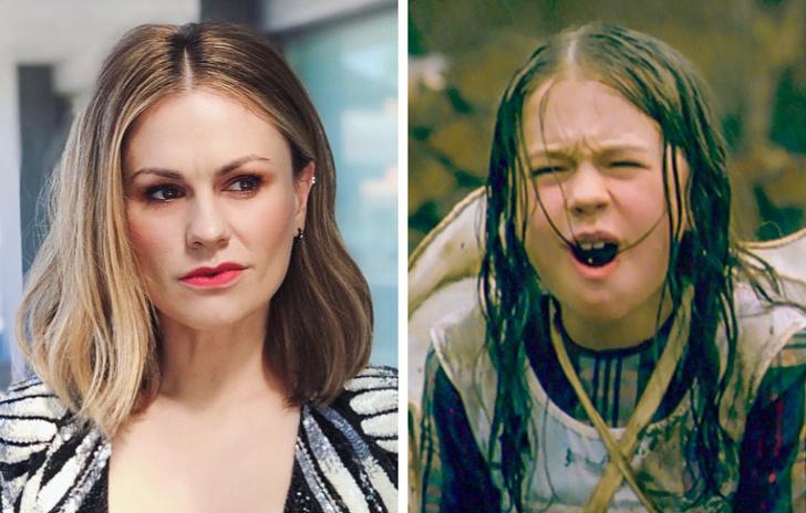 Anna Paquin de niña y de adulta
