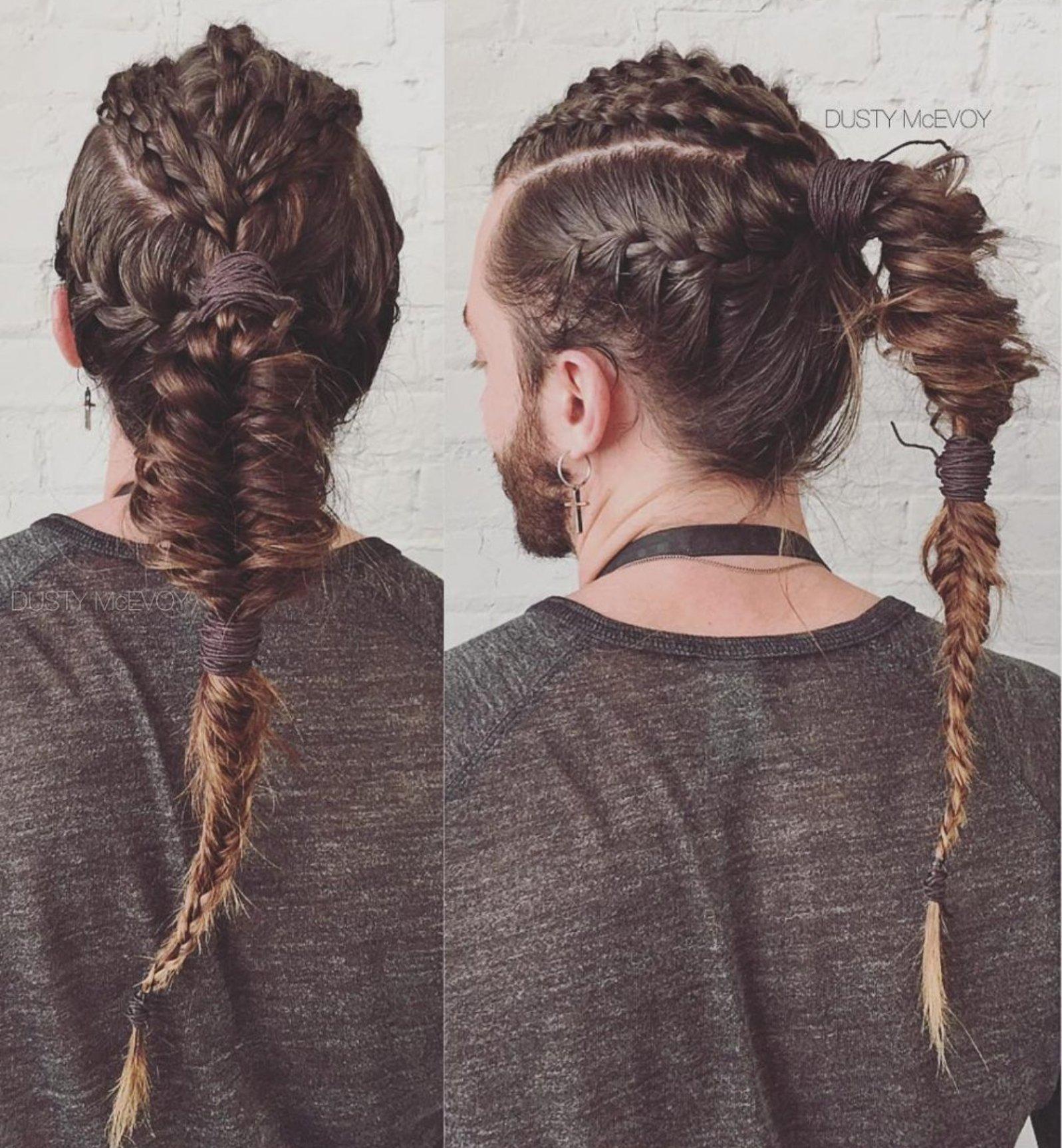 Lindo y sin esfuerzo vikingos peinados Galería de cortes de pelo estilo - Peinados con trenzas vikingas para darle rudeza a tu estilo