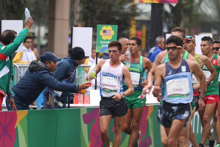 Alejandro Barrondo durante su participación en los Juegos Panamericanos
