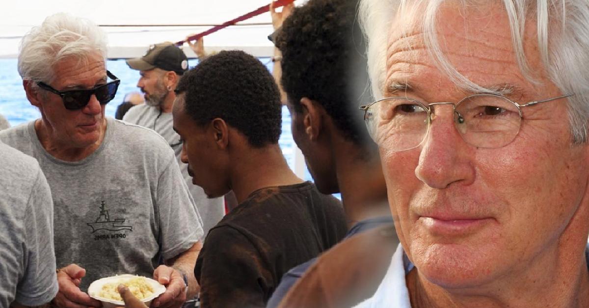"""Richard Gere pide """"brazos abiertos"""" para migrantes rescatados en el Mediterráneo"""