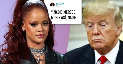 Tras tiroteos, Rihanna lanza mensaje contra Trump