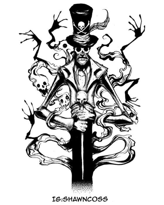Ilustrador Shawn Coss dibujó a los villanos de Disney más sombríos; Dr. Facilier de La princesa y el sapo