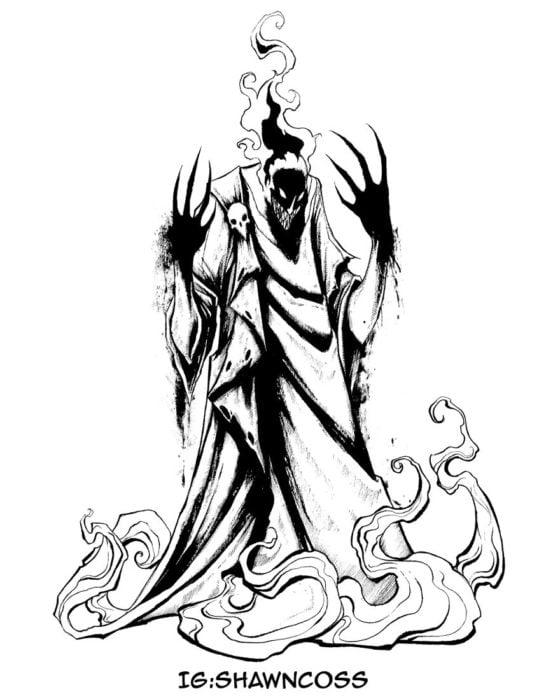 Ilustrador Shawn Coss dibujó a los villanos de Disney más sombríos; Hades de Hércules