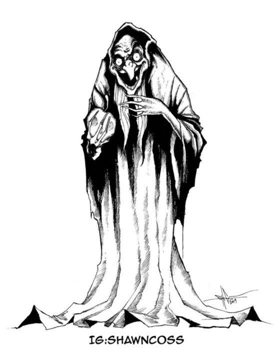 Ilustrador Shawn Coss dibujó a los villanos de Disney más sombríos; La reina malvada, bruja anciana de Blancanieves