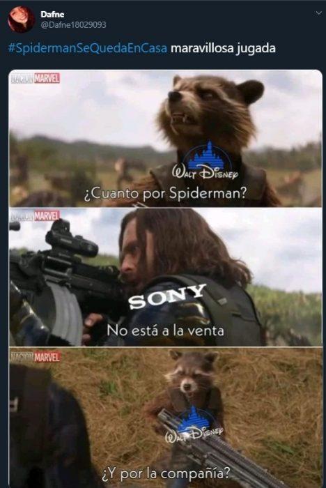 Tuit sobre el desacuerdo entre Sony y Marvel por Spider-Man