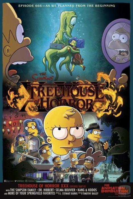 Poster oficial ilustrado del capítulo 666 de Los Simpson