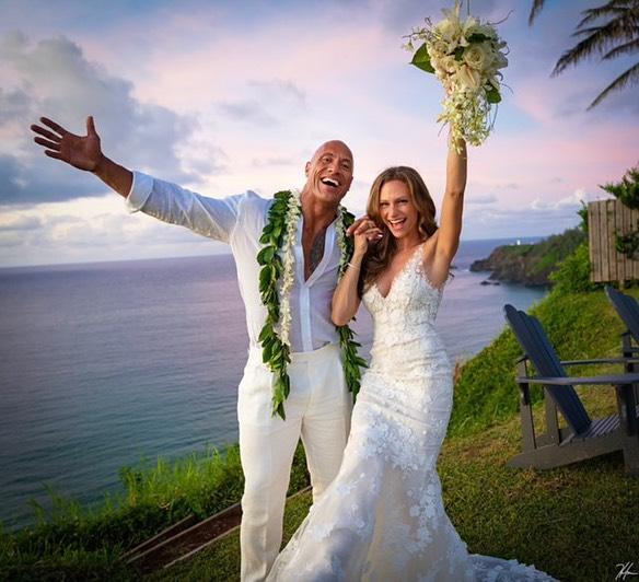 Dwayne Johnson y Lauren se casaron después de 12 años de relación