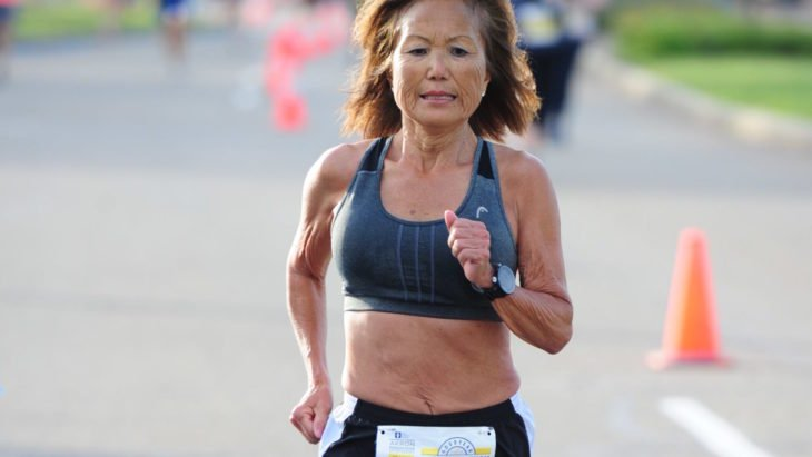 Jeannie Rice corriendo
