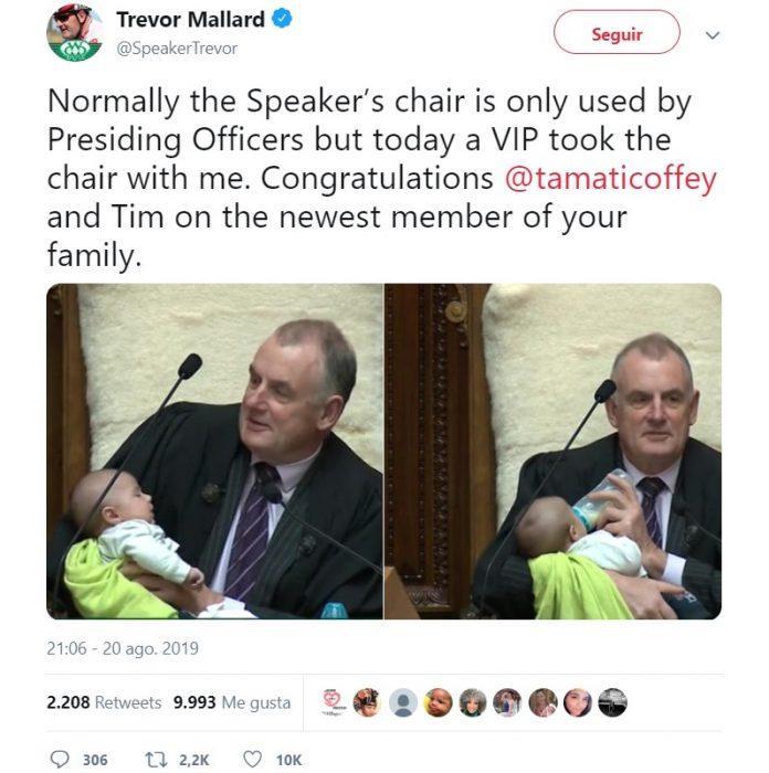 Trevor Mallard en Twitter