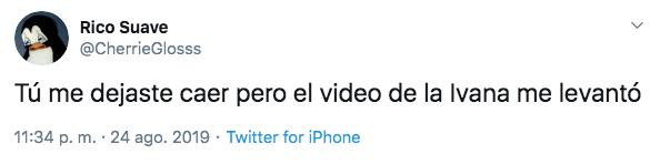 Meme en twitter sobre el video viral de Ivana y Camila